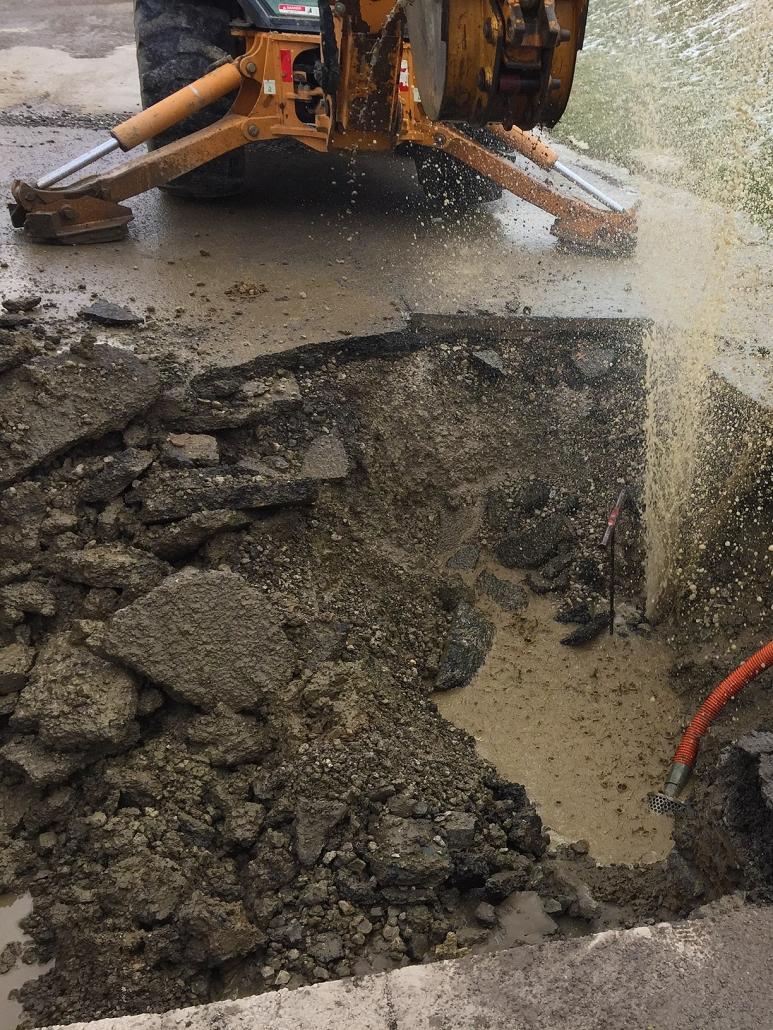 Davidson Street 6-Inch Water Line Repair